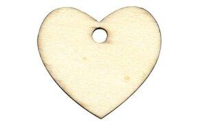 WOODEN HEART TAGS SET/6pcs